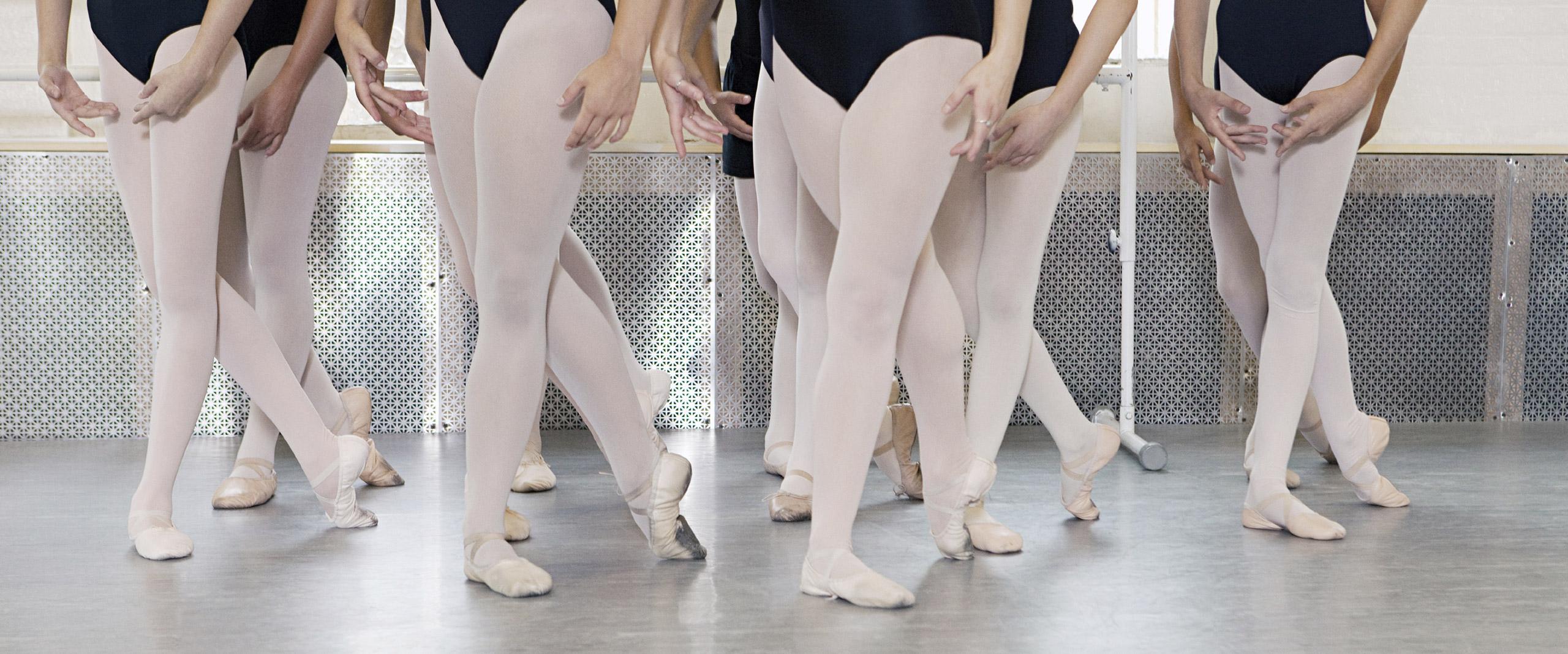Ballet class of girls